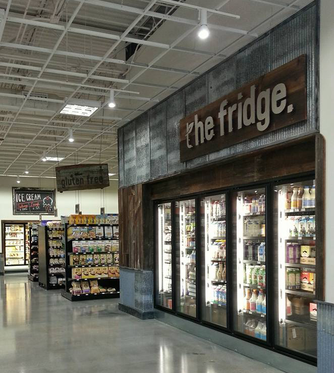Dairy, frozen, and grocery departments